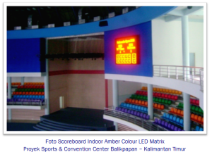 Foto-Scoreboard-Indoor-Amber-Colour-LED-Matrix-balikpapan murticahaya