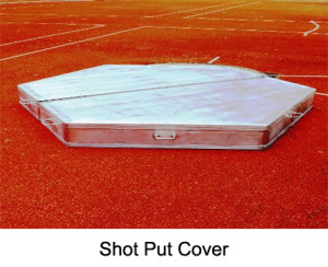 Cover for discus and shot put ring, Made from aluminium, with extra welded handles for easy transport