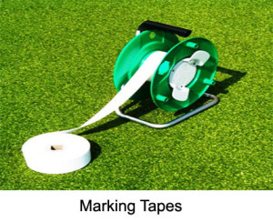 The sector marking tapes show the sector for the javelin competition