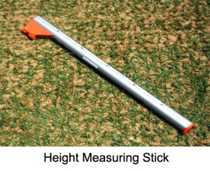 Height Measuring Stick for High Jump, made from aluminium, telescopic adjustability from 0.85 to 3.00 m with spirit level.