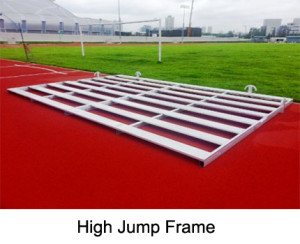 Aluminium bar frame for high jump mats, manufactured completely from aluminium. The aluminium bar frame serves as the perfect base for high jump mats.