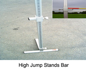 High jump uprights. Made from high-grade aluminium profiles. Made from a profile with the dimensions 50 x 50 x 3 mm and with rounded edges.