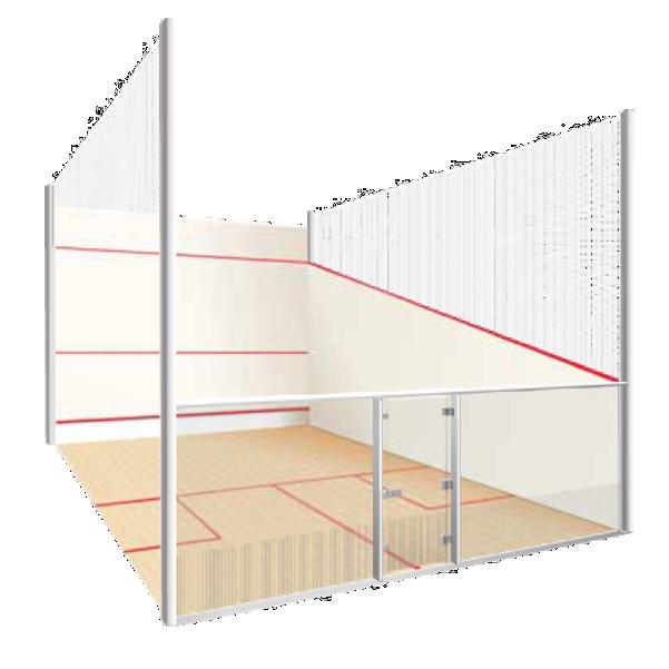 lapangan squash berstandard internasional